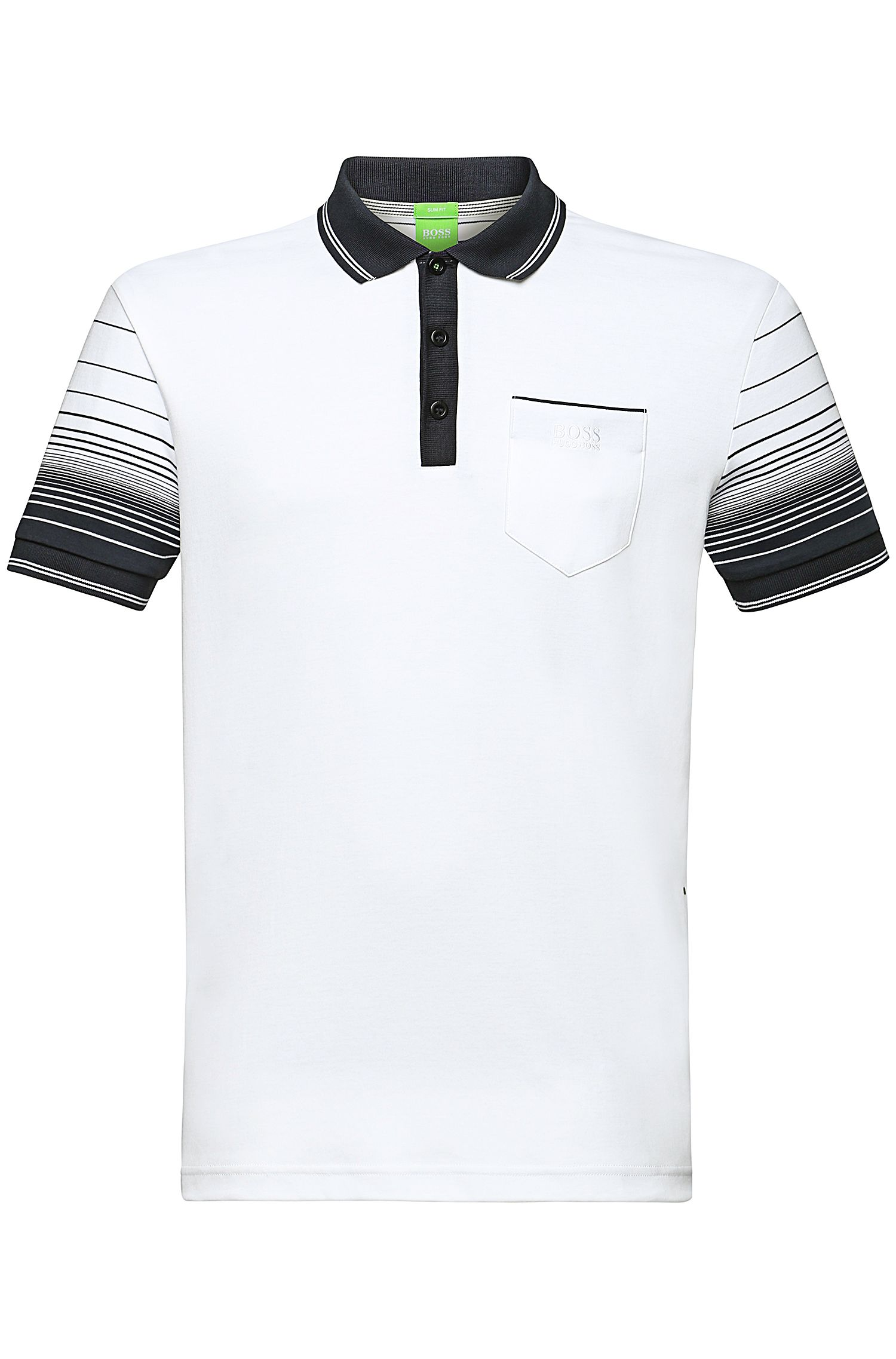 Slim-Fit Polo aus Baumwoll-Mix: ´Paule 2`
