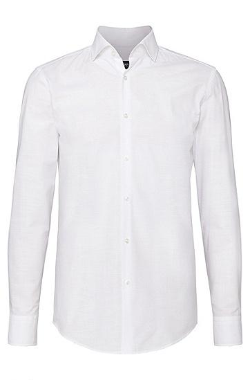 Chemise Slim Fit en coton: «Jason», Blanc