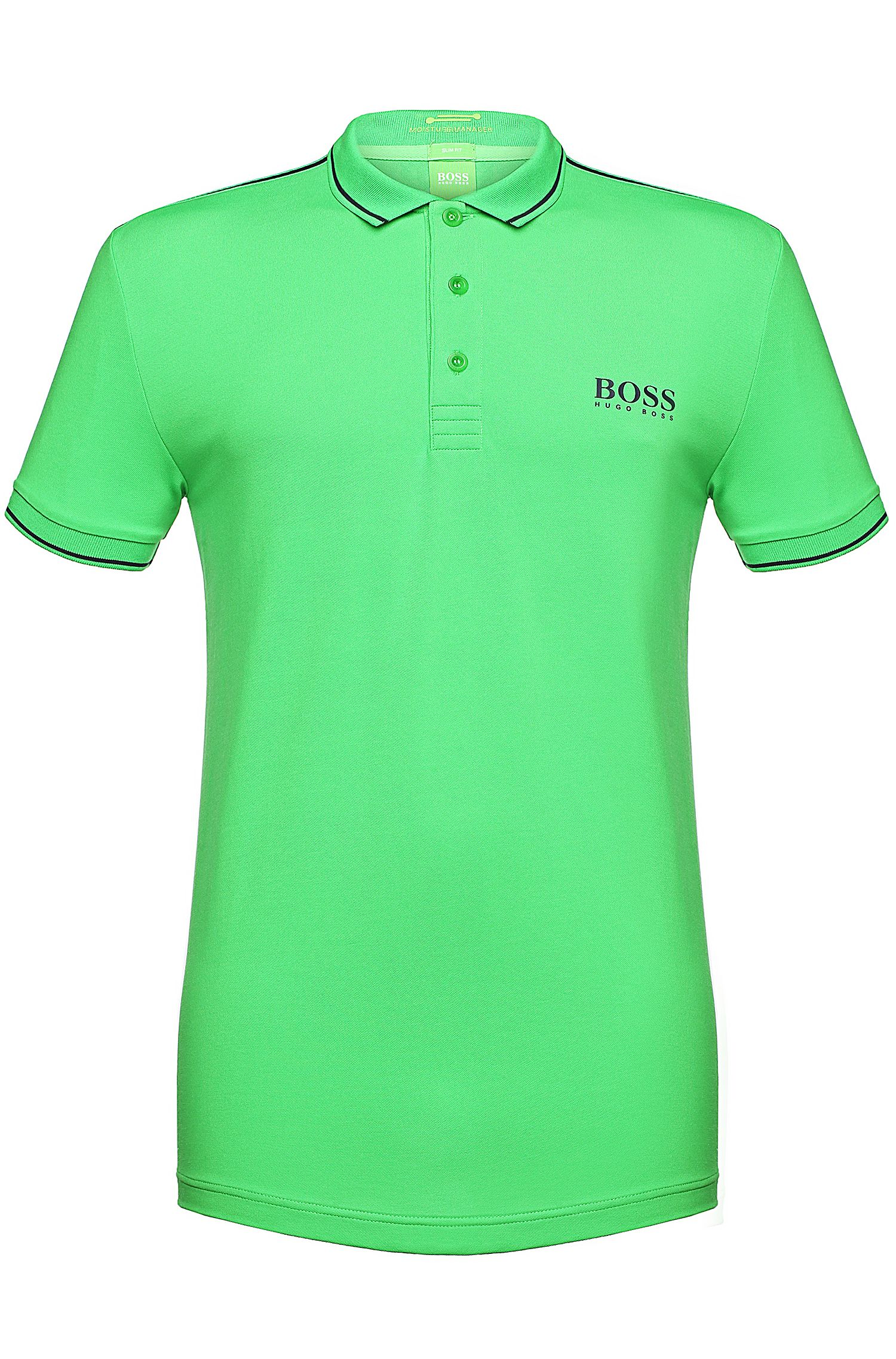 Slim-Fit Polo aus Funktionstextil: ´Paule Pro`