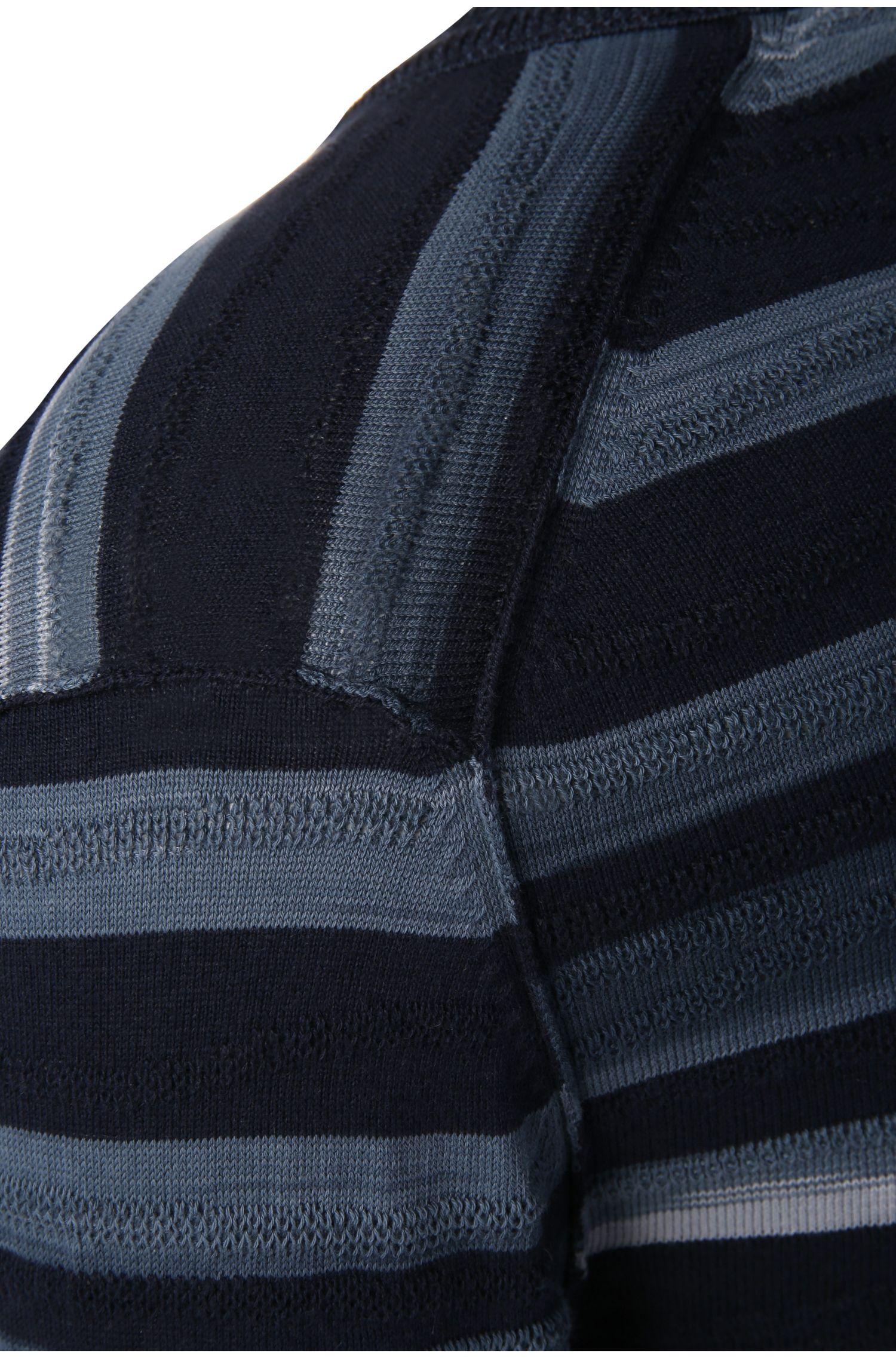 Slim-Fit Pullover aus Material-Mix mit Baumwolle, Viskose und Seide: ´Kanlow`