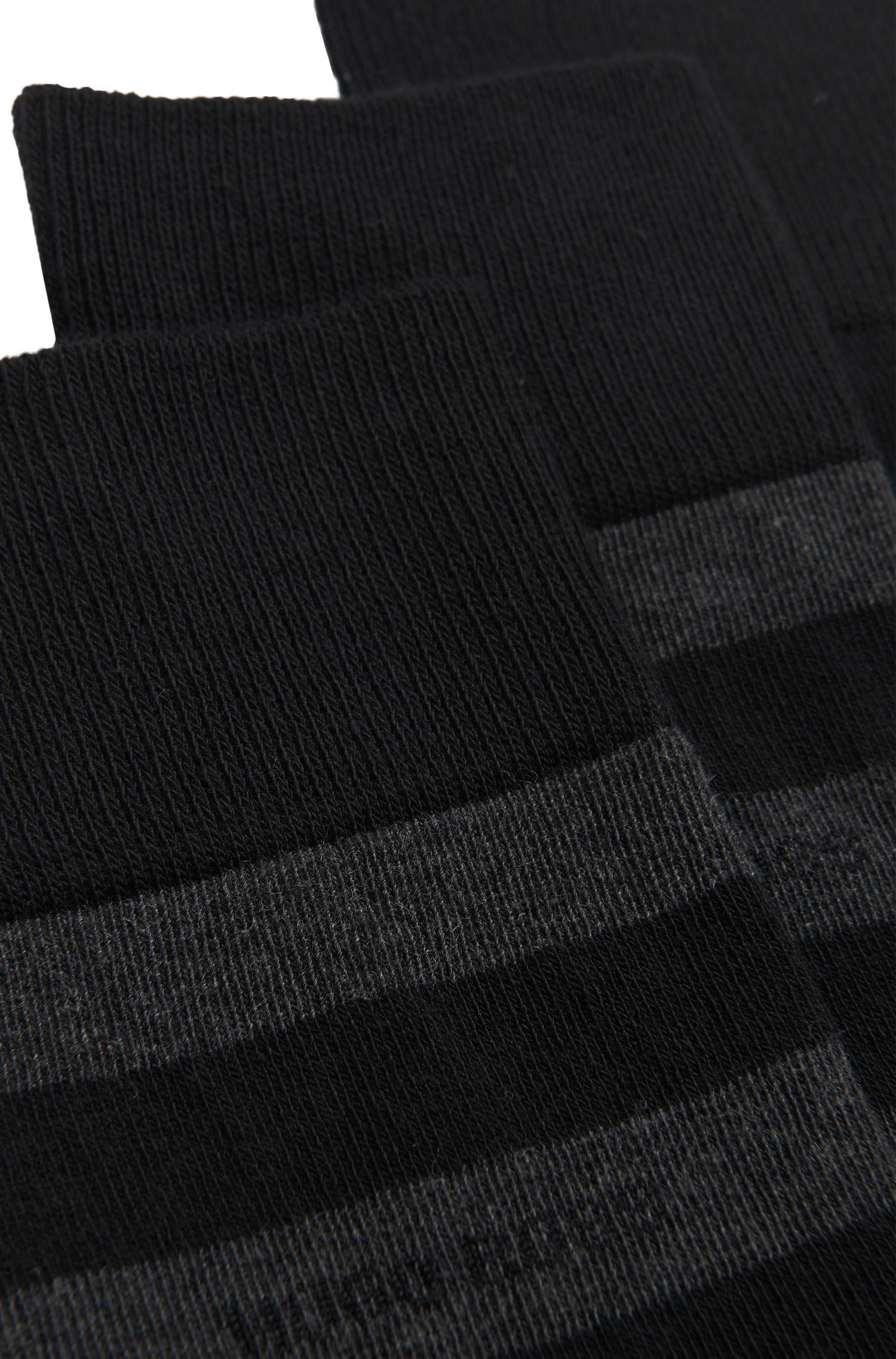Set van 2 paar sokken van een katoenmix: 'Twopack Block Stripe'