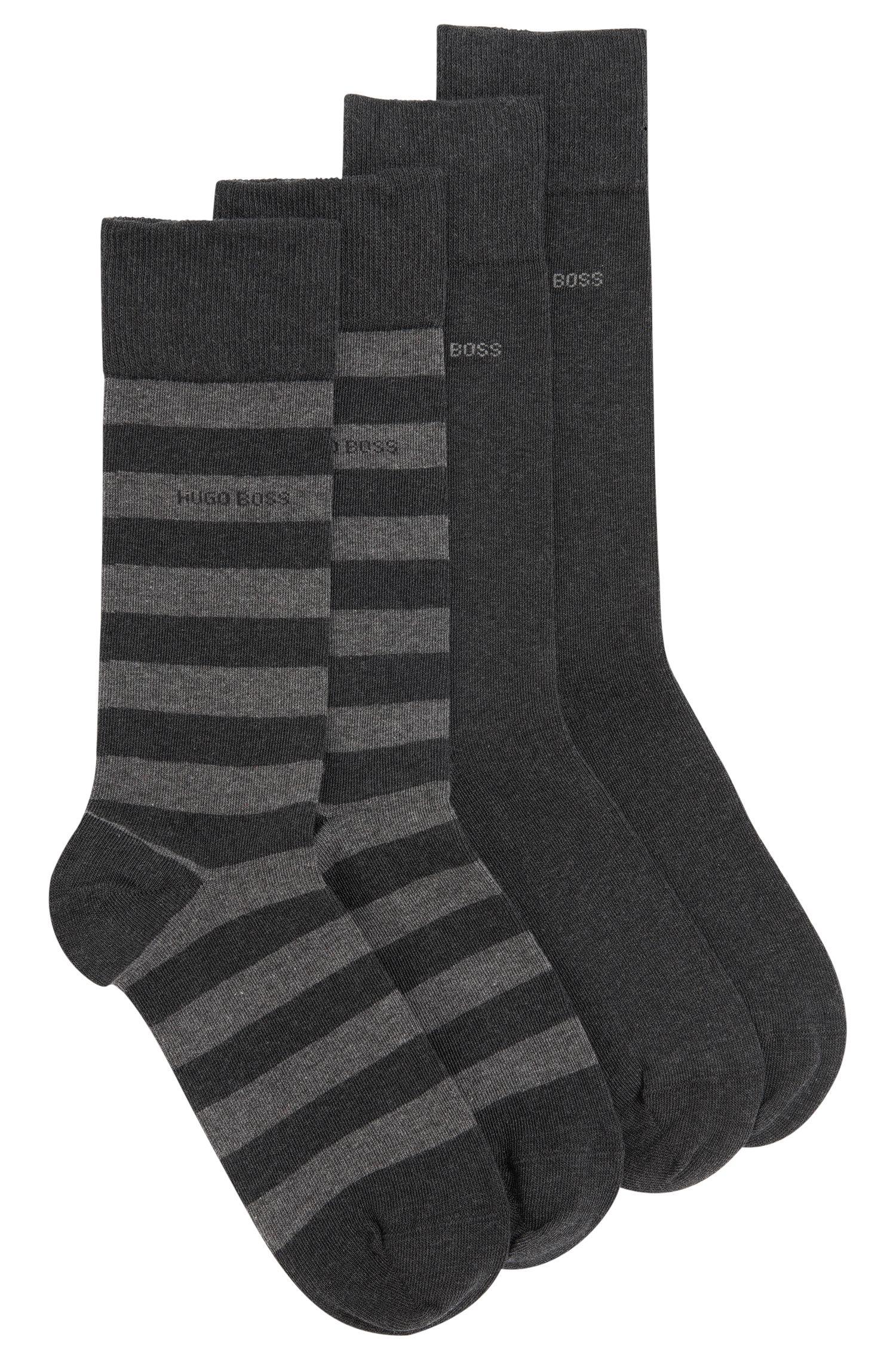 Socken aus elastischem Baumwoll-Mix im Zweier-Pack