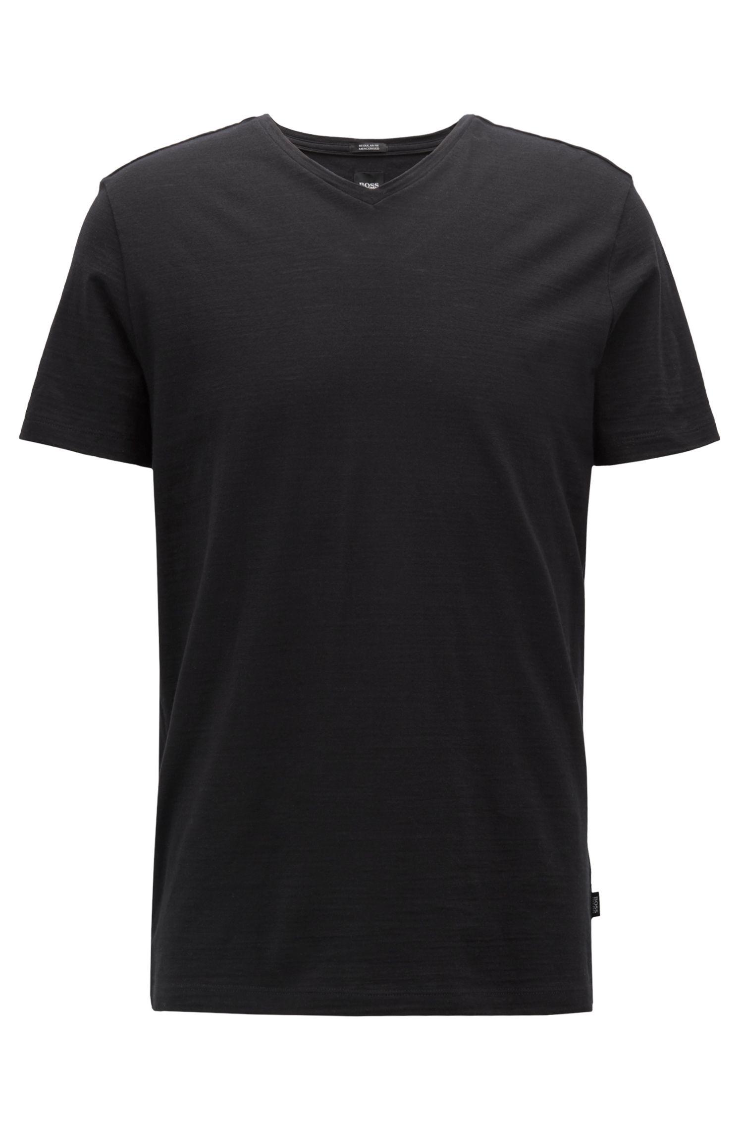 Regular-Fit T-Shirt aus merzerisierter Baumwolle