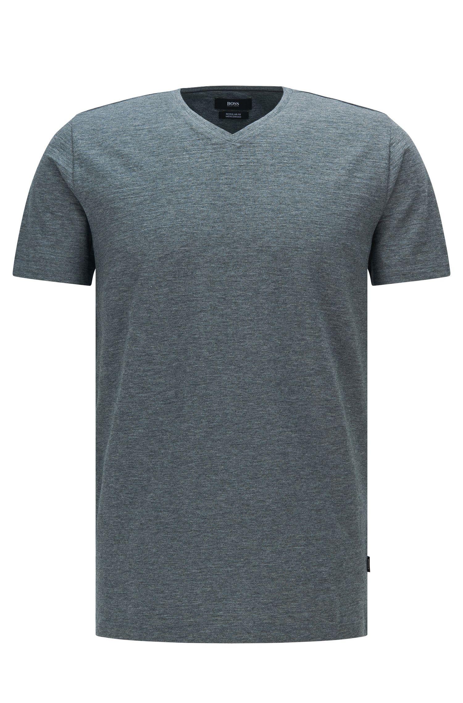 Regular-fit T-shirt van gemerceriseerde katoen