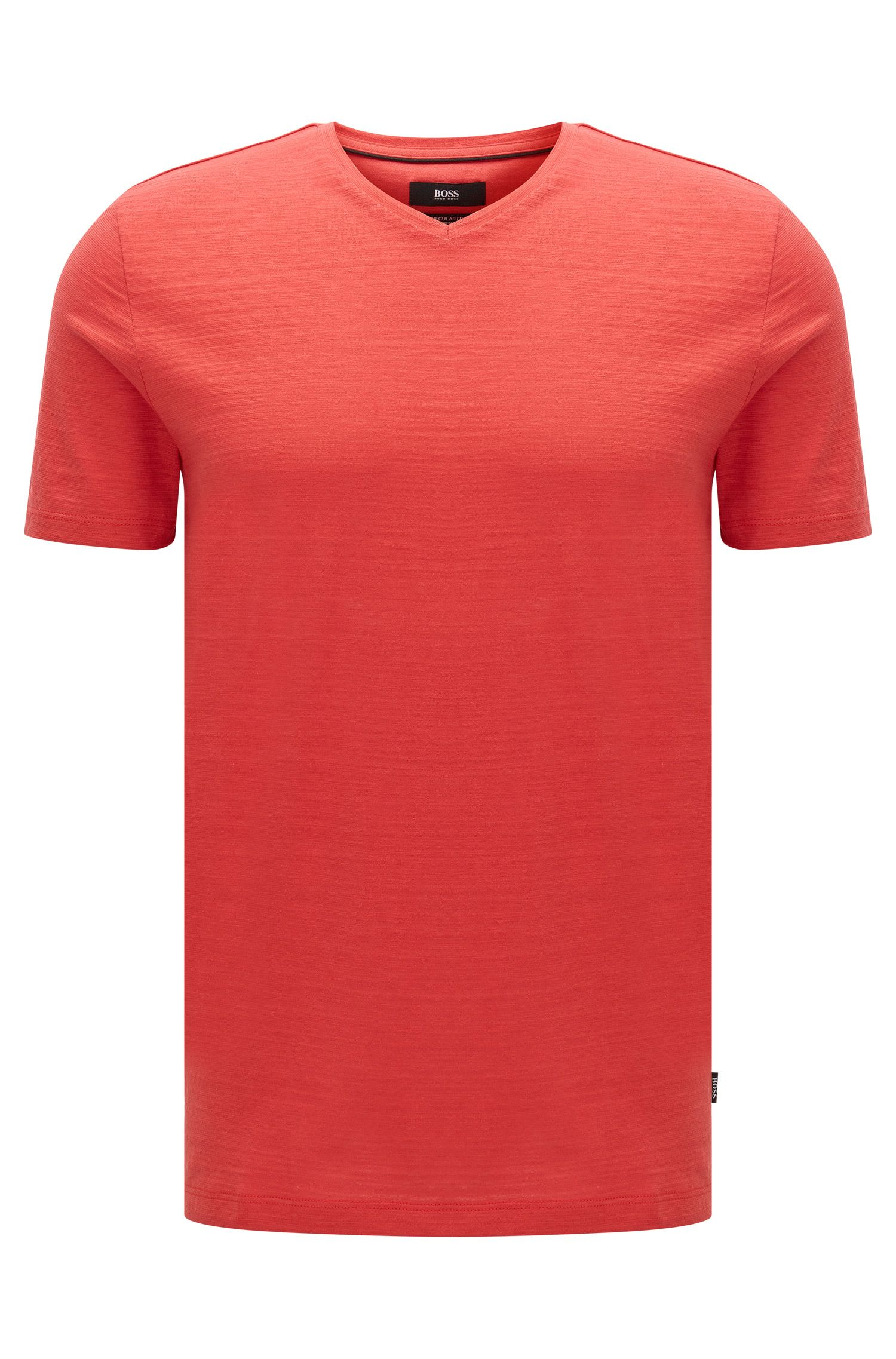 T-shirt regular fit in cotone mercerizzato