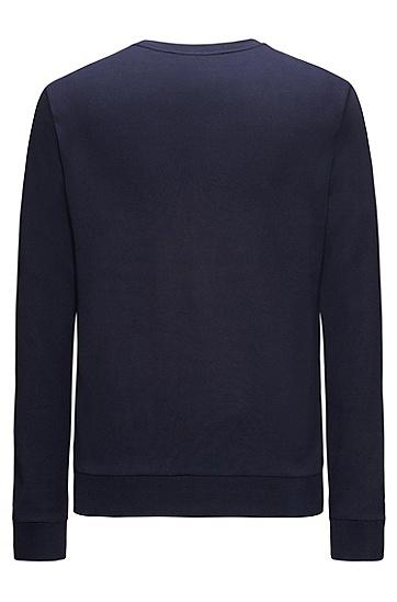 饰以颠倒logo的常规版双面棉运动衫,  410_海军蓝色
