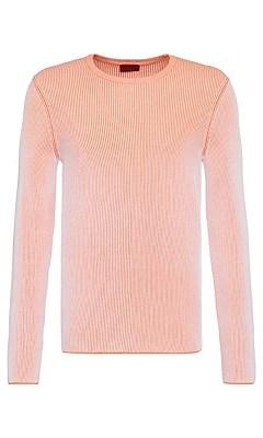 Loose fit sweater in cotton: 'Srib', Orange