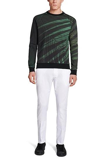 Regular-Fit Sweatshirt aus Baumwolle: 'Dichigan', Grün