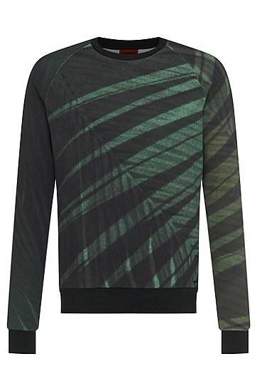 Regular fit sweatshirt in cotton blend: 'Dichigan', Green