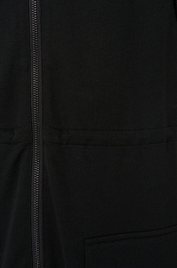 Loose-Fit Sweatshirt-Weste aus Baumwolle: 'Douisiana', Schwarz