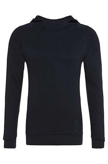 Sweatshirt aus Baumwolle: 'Shirt hooded', Dunkelblau