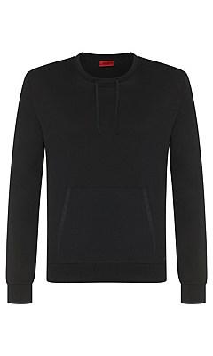 Regular-fit sweatshirt in cotton blend: 'Doregon', Black