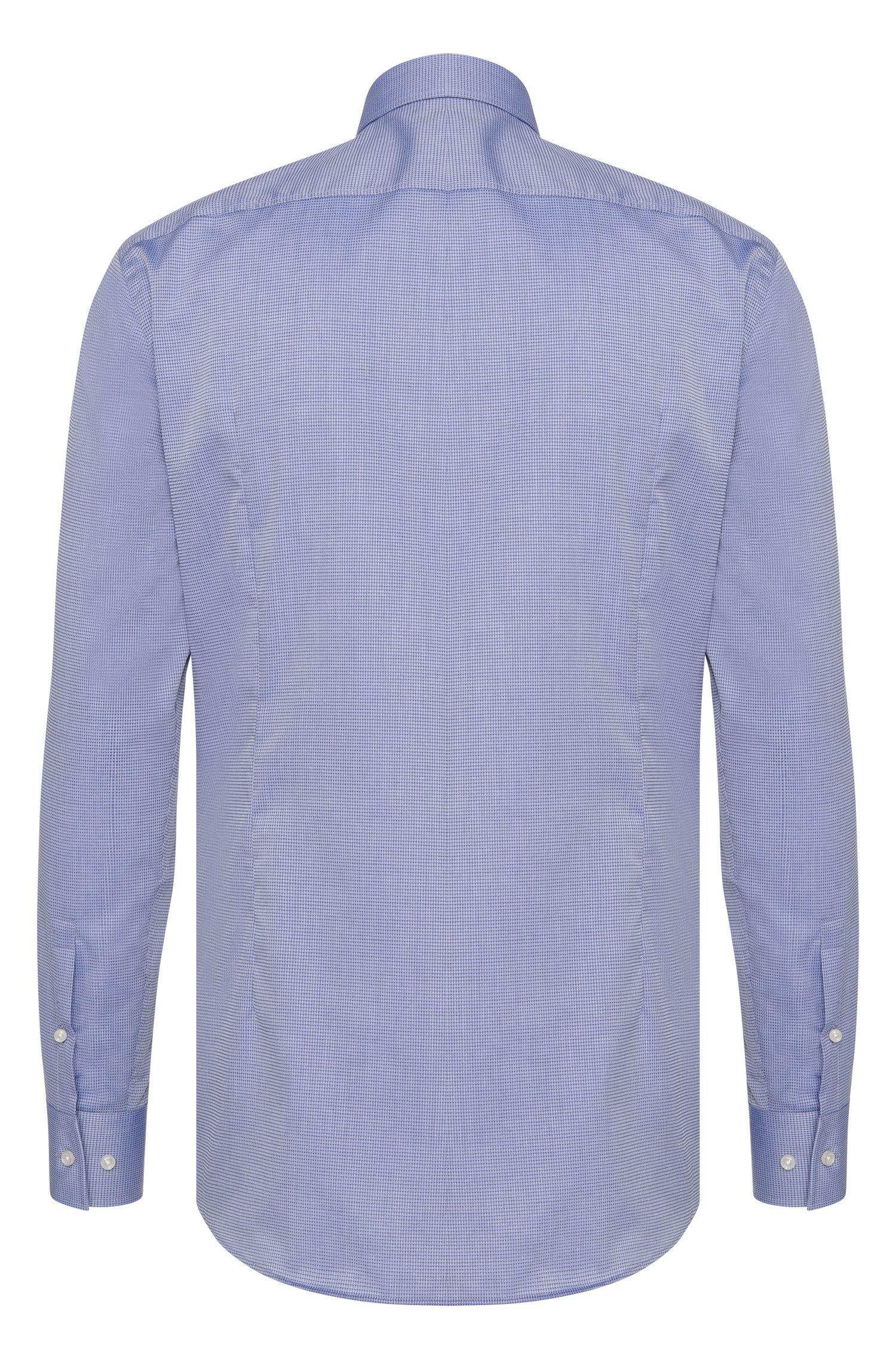 Gemustertes Slim-Fit Travel Line Hemd aus Baumwolle: 'Jenno'