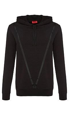 Loose-fit sweatshirt in a cotton blend: 'Danchester', Black