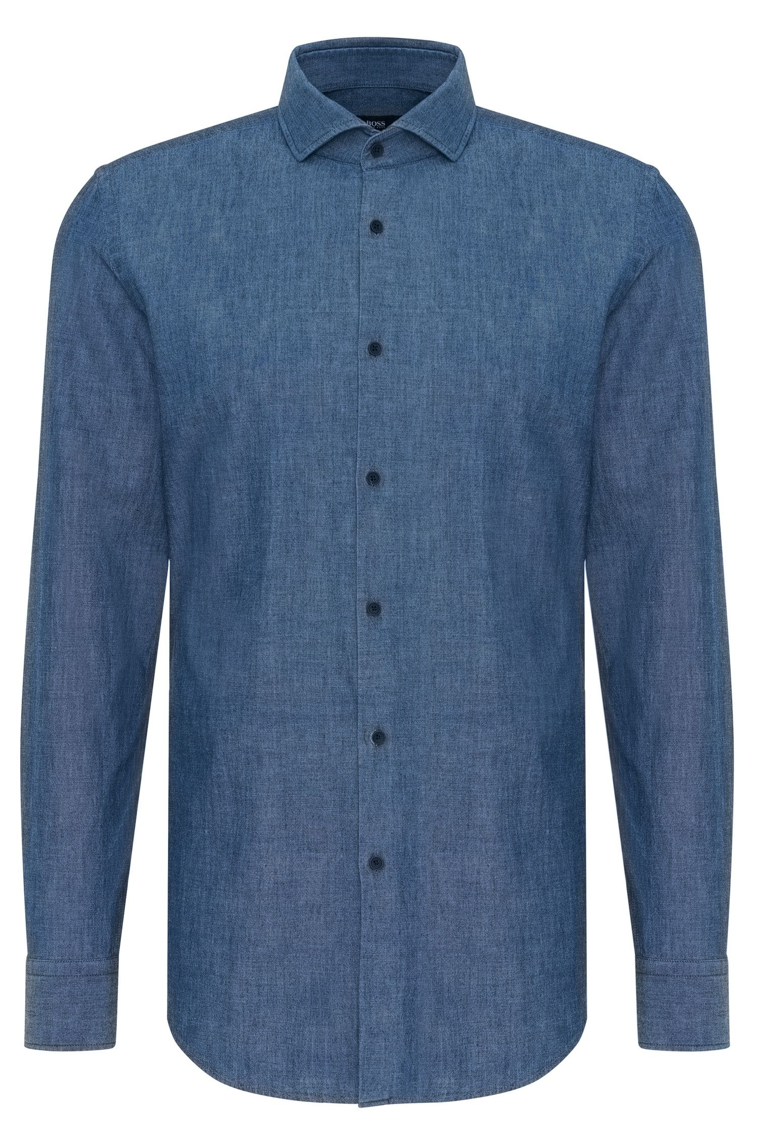 Chemise Slim Fit en denim de coton : « Jason »