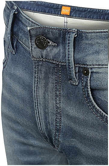 Slim-Fit Jeans mit Waschung: ´Orange72`, Blau