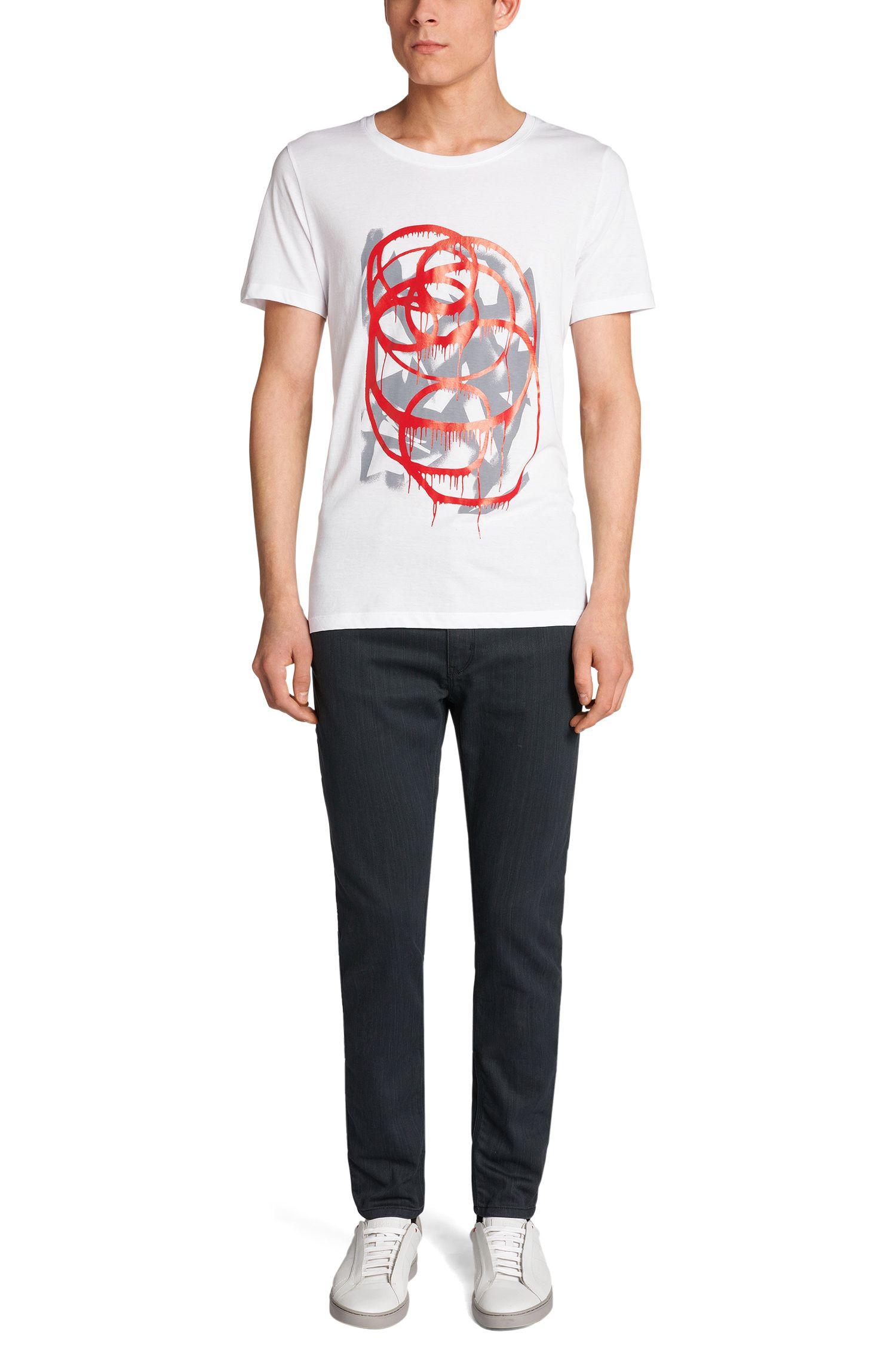 Regular-Fit T-Shirt aus Baumwolle: 'Deattle'