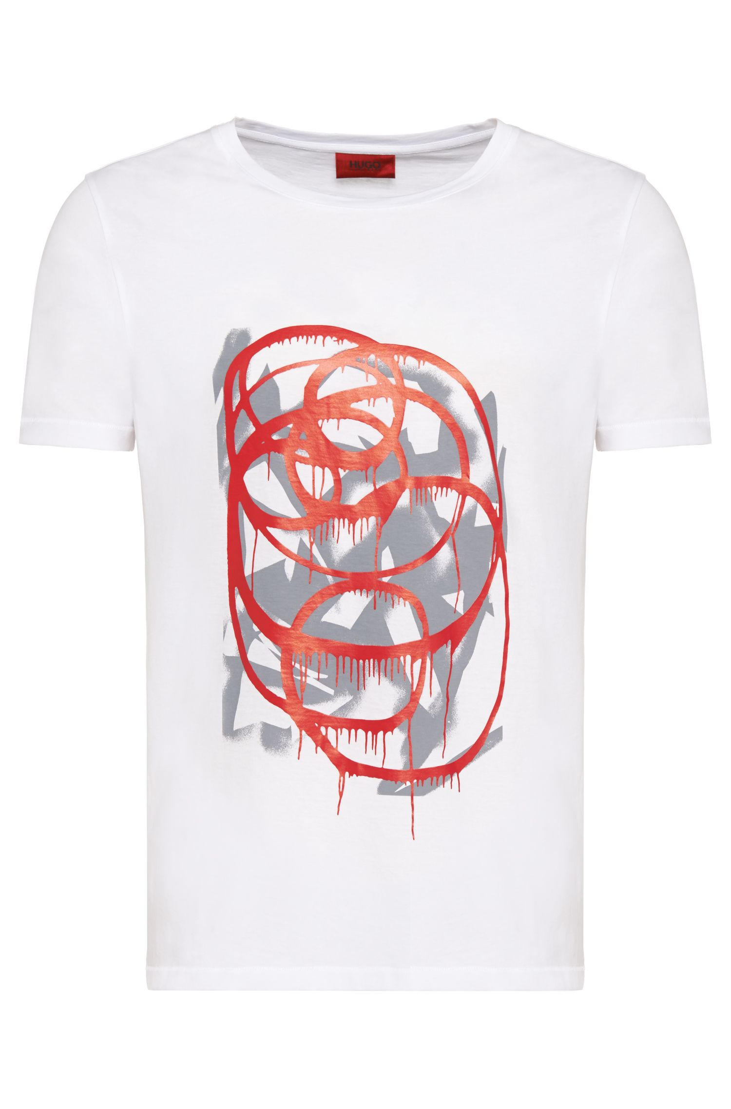 Regular-Fit T-Shirt aus Baumwolle: 'Deattle'