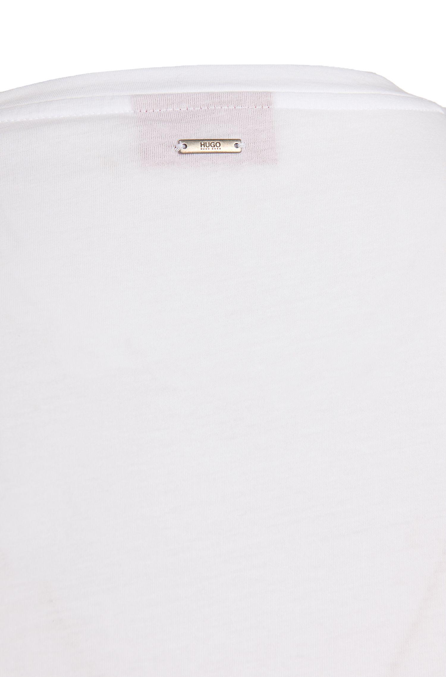 Regular-fit T-shirt van katoen: 'Deattle'
