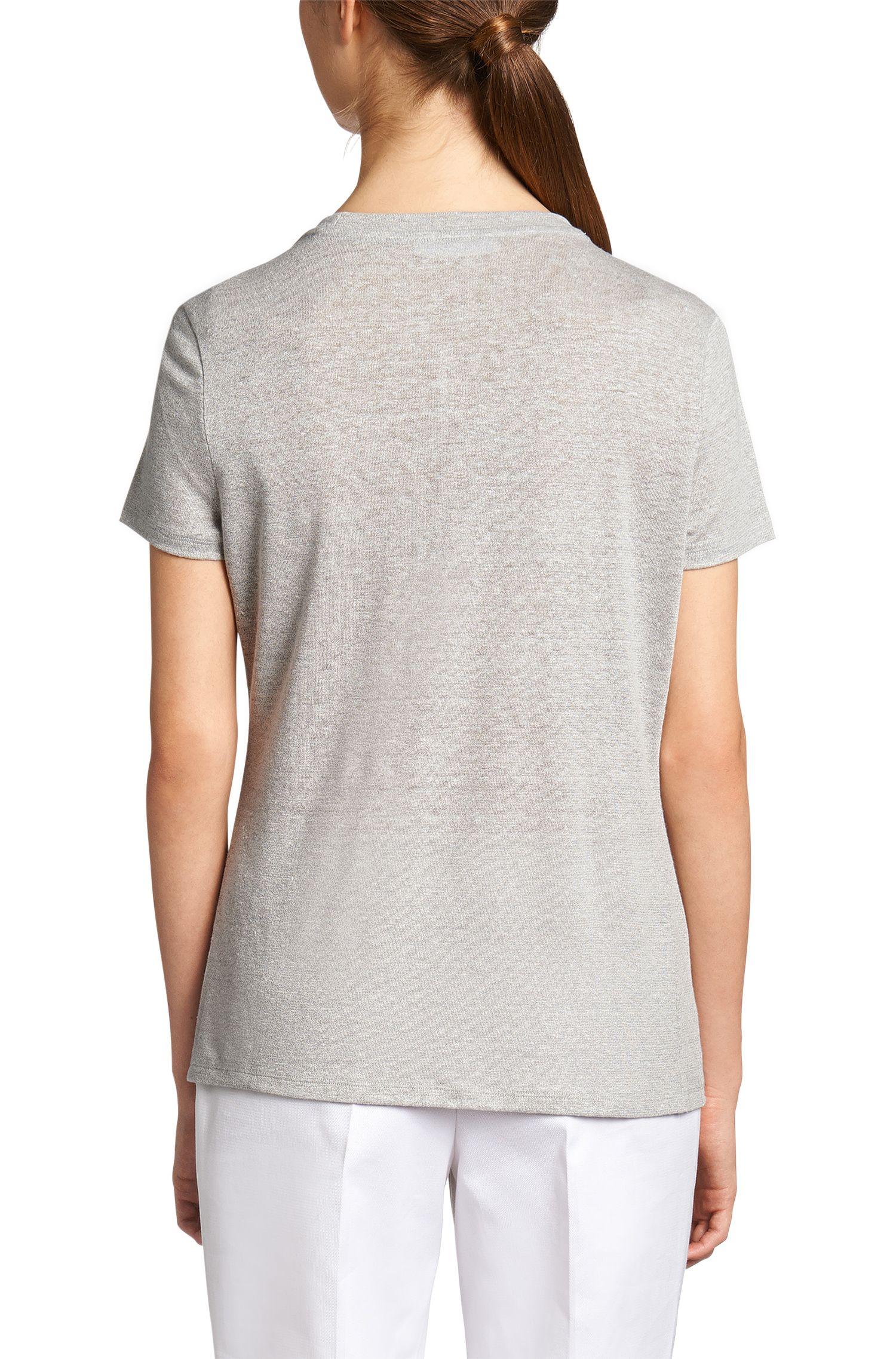 T-shirt en lin mélangé: «Eilina»