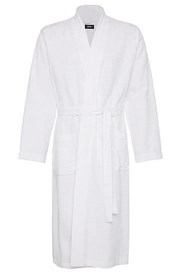 Bademantel aus Baumwoll-Mix: 'Kimono', Weiß