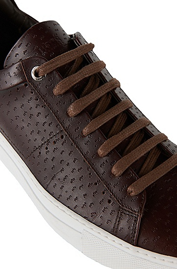 Leather sneakers: 'T-Timaker-PE', Dark Brown