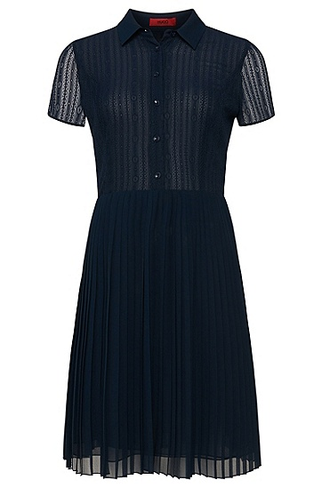 Kleid aus Spitze und Chiffon: 'Kibby-1', Blau