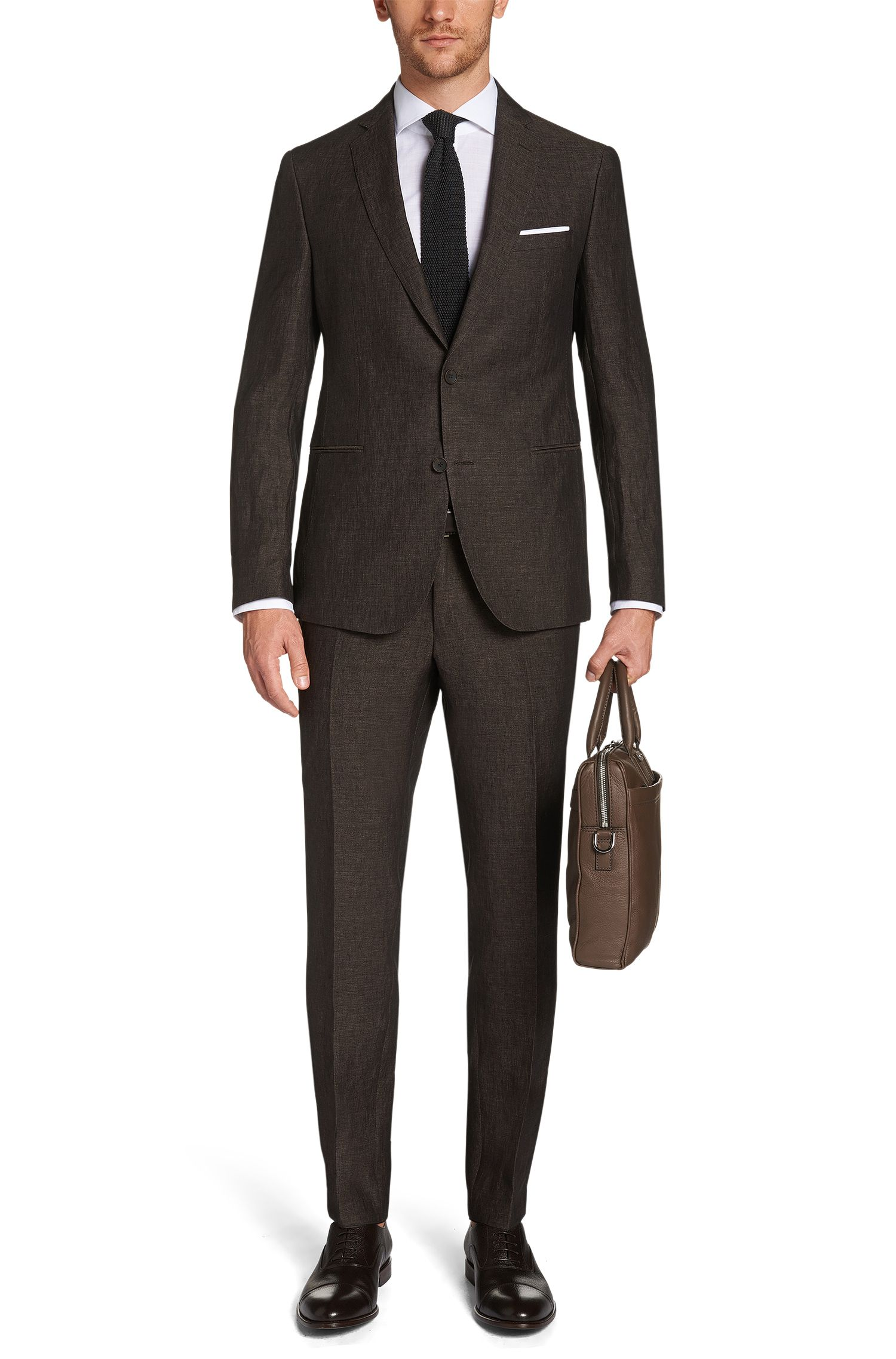 Extra slim-fit kostuum van linnen: 'Renold/Wyatt'