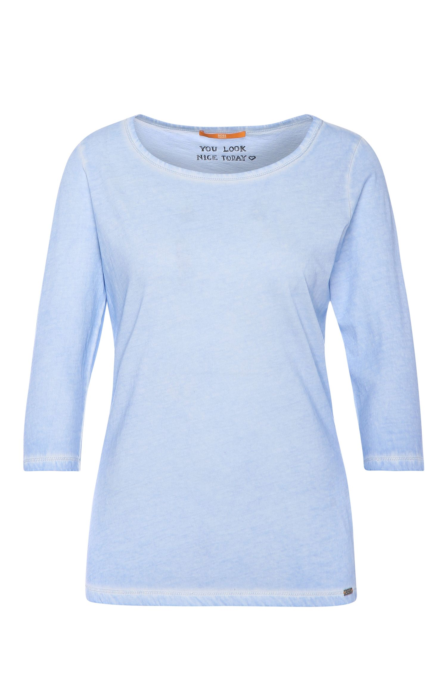 Slim-fit shirt with vintage dye: 'Tasfias'