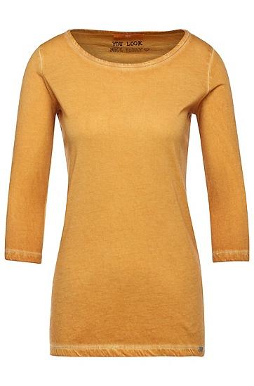 Slim-Fit Shirt mit Vintage-Färbung: ´Tasfias`, Gold
