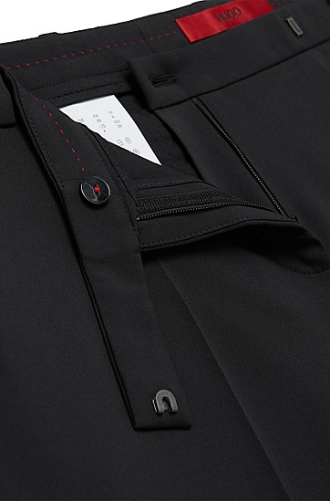 Hose aus elastischem Material-Mix: 'Hokena', Schwarz