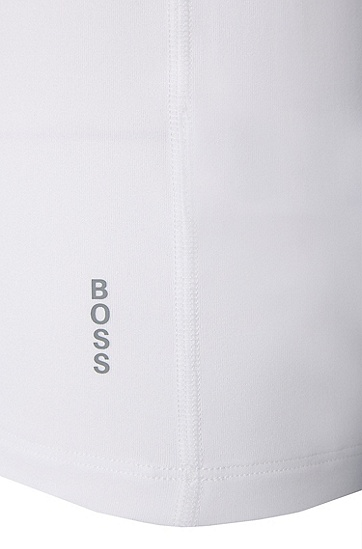 T-Shirt aus elastischem Material-Mix: 'Shirt RN Edge', Weiß