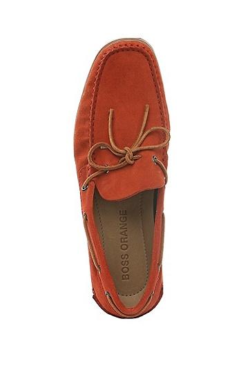 翻绒皮船鞋:'Newlan',  620_亮红色