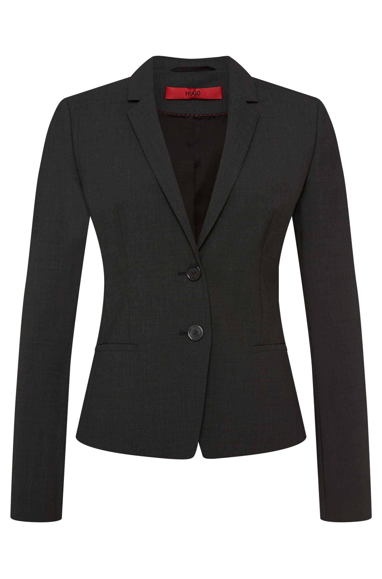 Regular-fit blazer van scheerwol met stretch: 'Afrona'