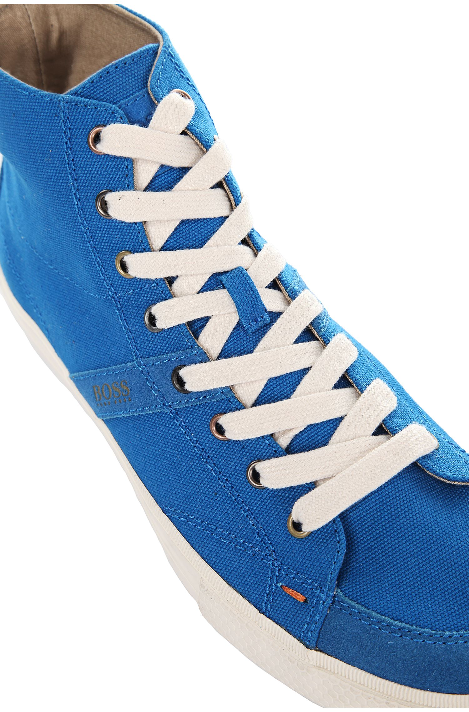High Top Sneakers aus Canvas und Veloursleder: ´Buckley`