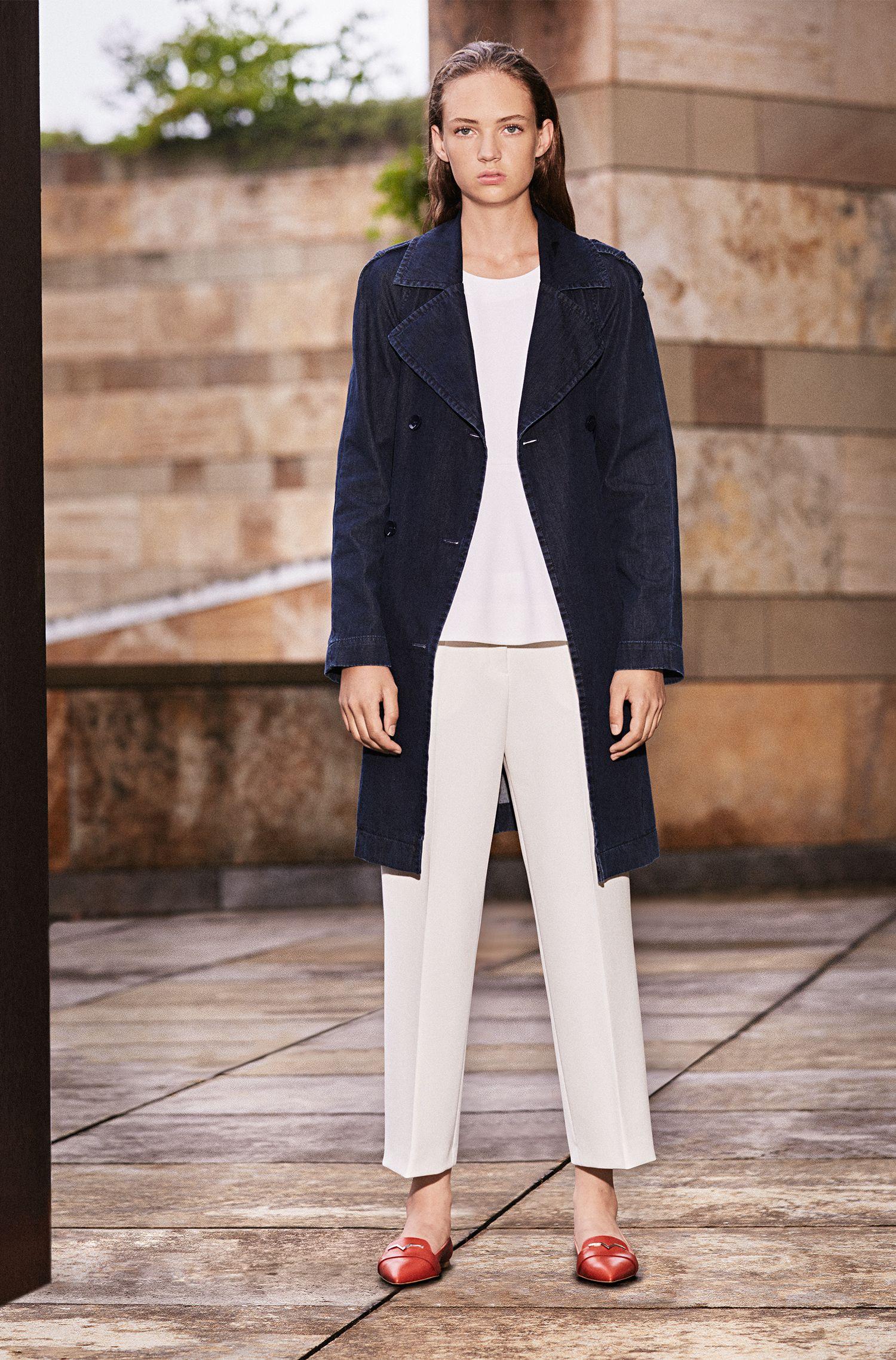 Pantalon Regular Fit en mélange de matières, avec du coton et de la viscose: «Hokena»