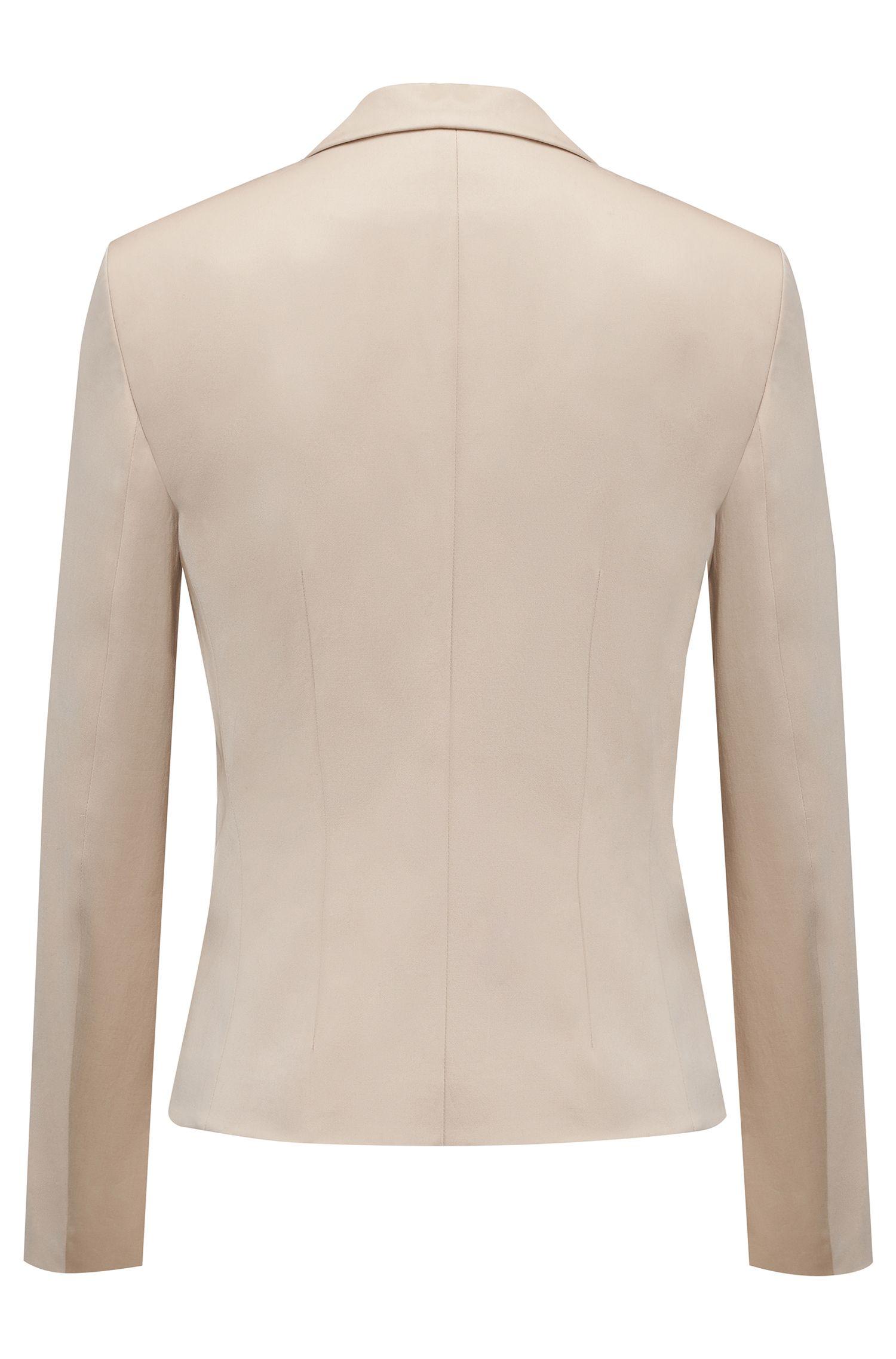 Getailleerde blazer van stretchkatoen: 'Afrona'