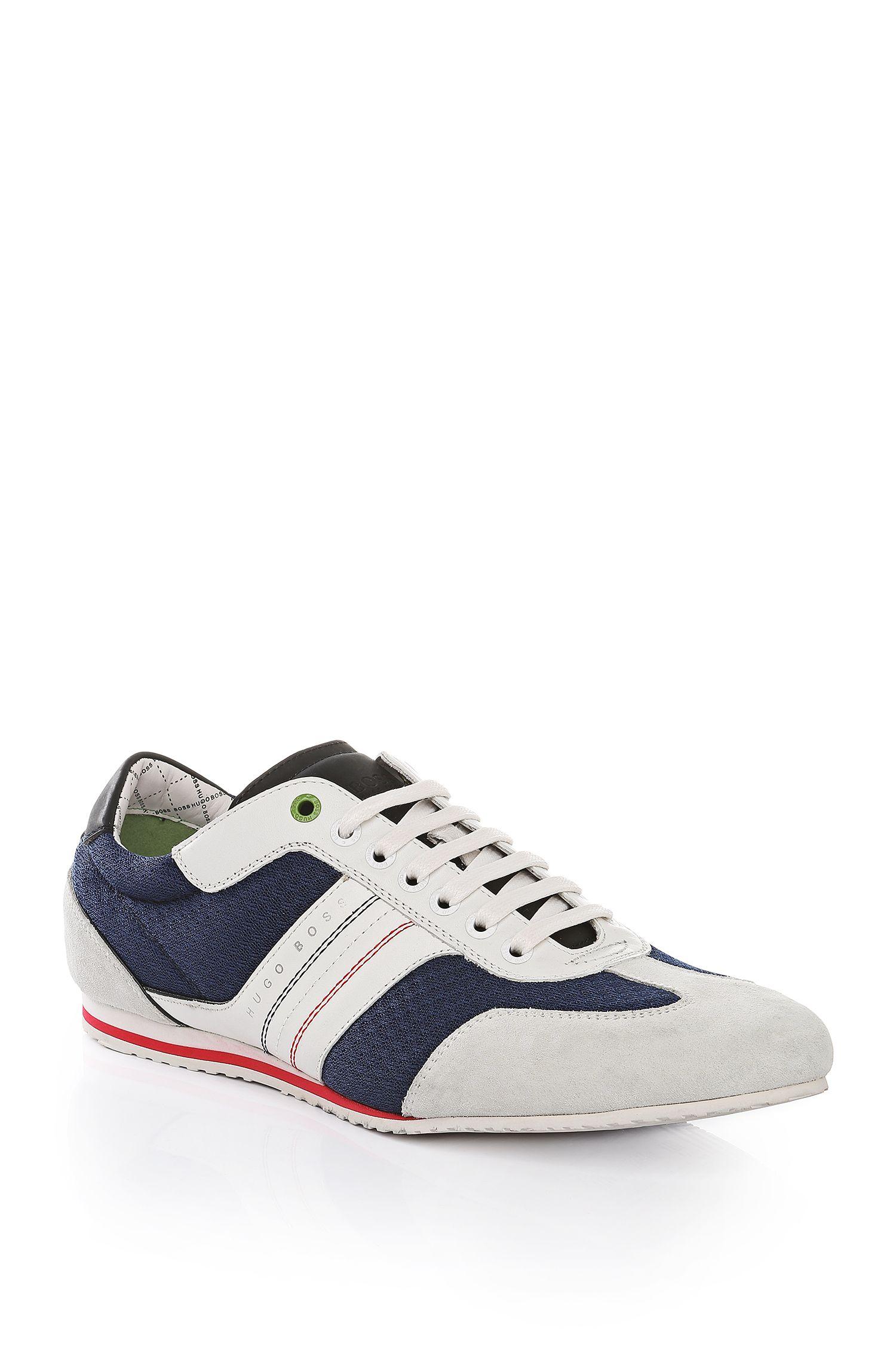 Sneakers mit Mesh- und Leder-Optik: ´Victov`