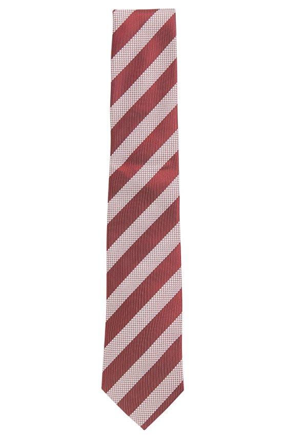 Zijden stropdas met stippendessin: 'Tie 7,5 cm', Rood