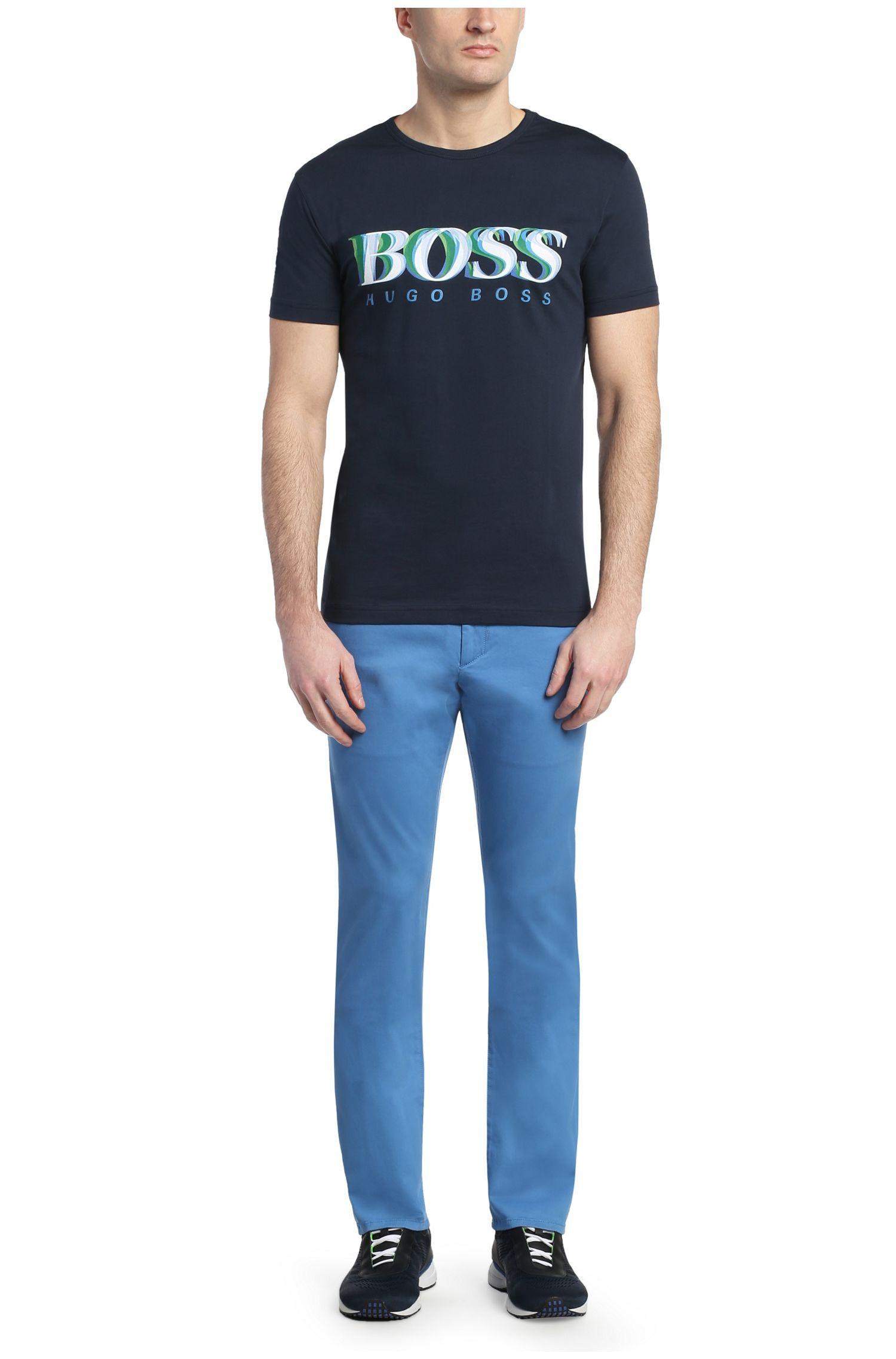 T-shirt en coton à imprimé sur le devant: «Tee7»