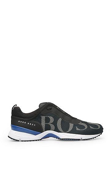 Sneakers aus Logo-Mesh: ´Velox`, Dunkelblau