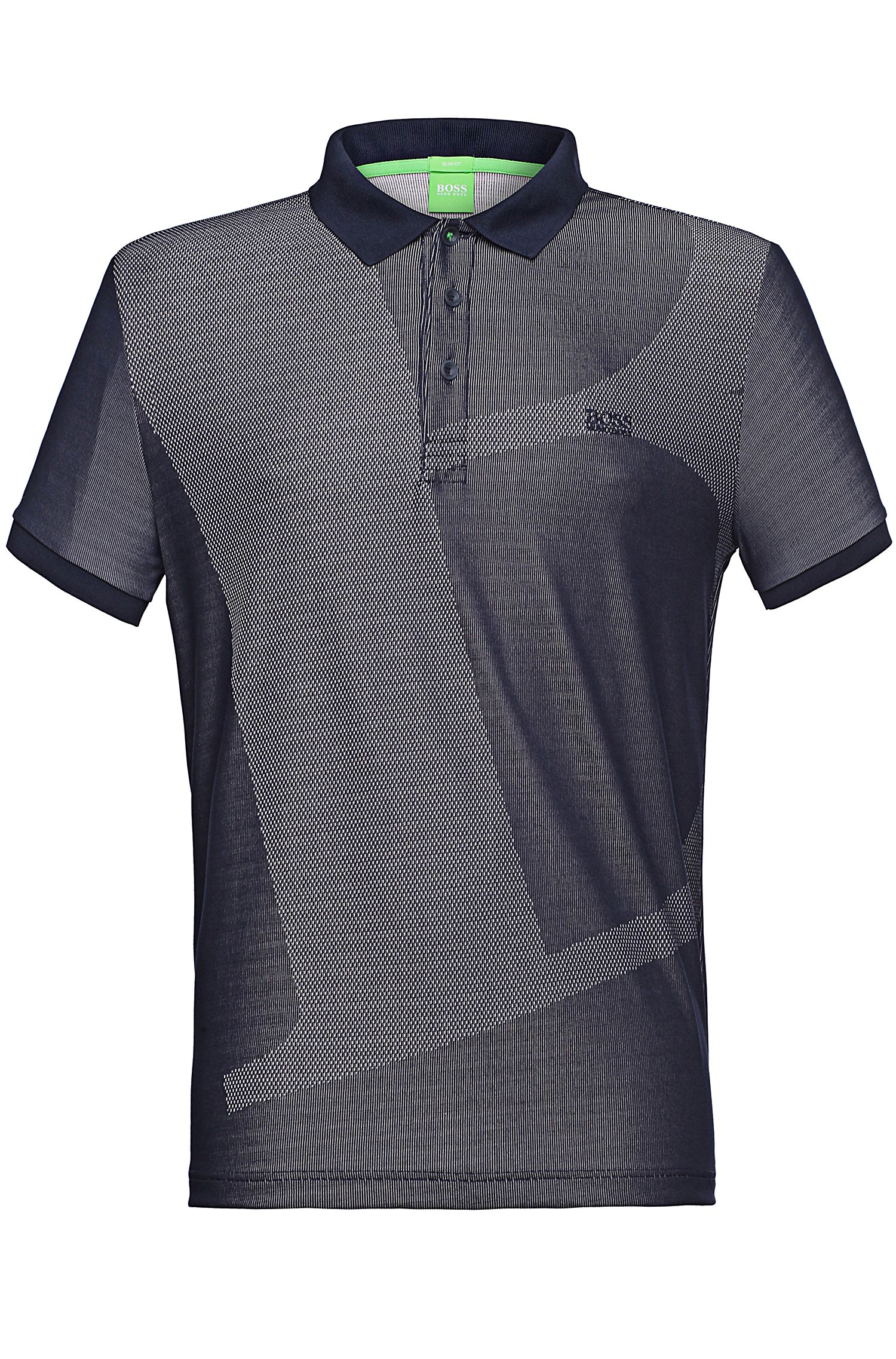 Slim-fit polo met dessin: 'Parsu'