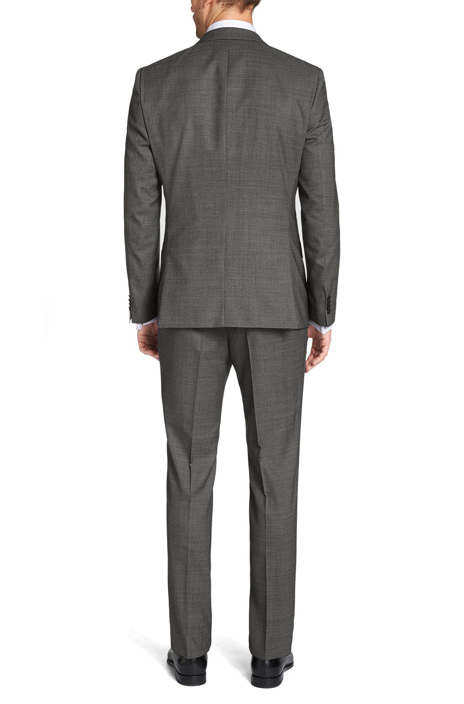 Slim-fit kostuum met gilet van scheerwol: 'Huge4/Genius3 WE'