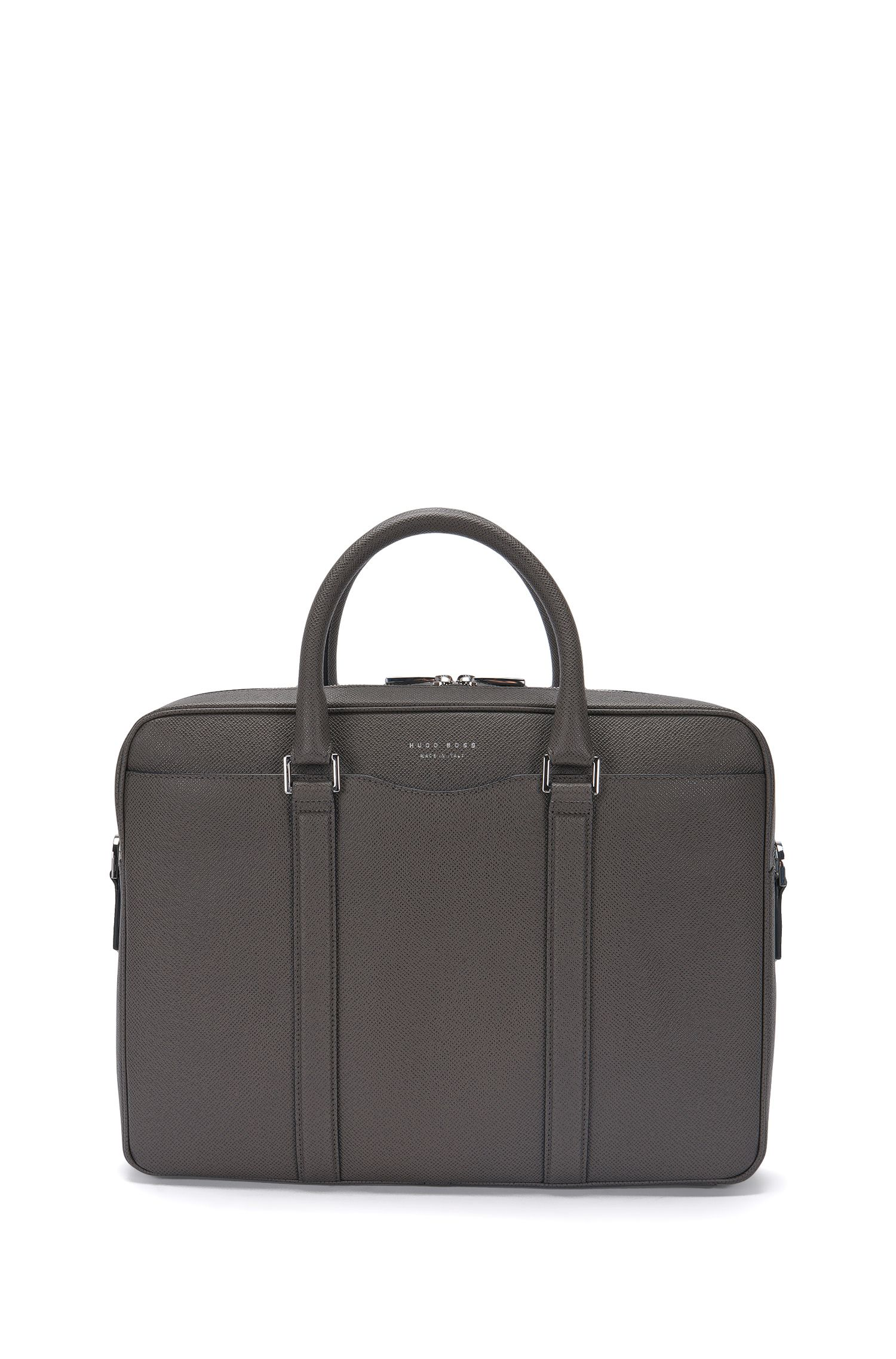Leather laptop bag: 'Signature_S doc'