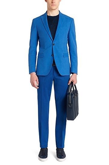 BOSS Signature系列Palmellato皮革手袋,  401_暗蓝色