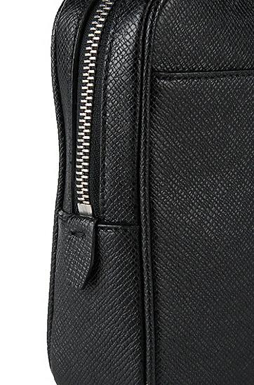 BOSS Signature系列 palmellato皮革小手袋,  001_黑色