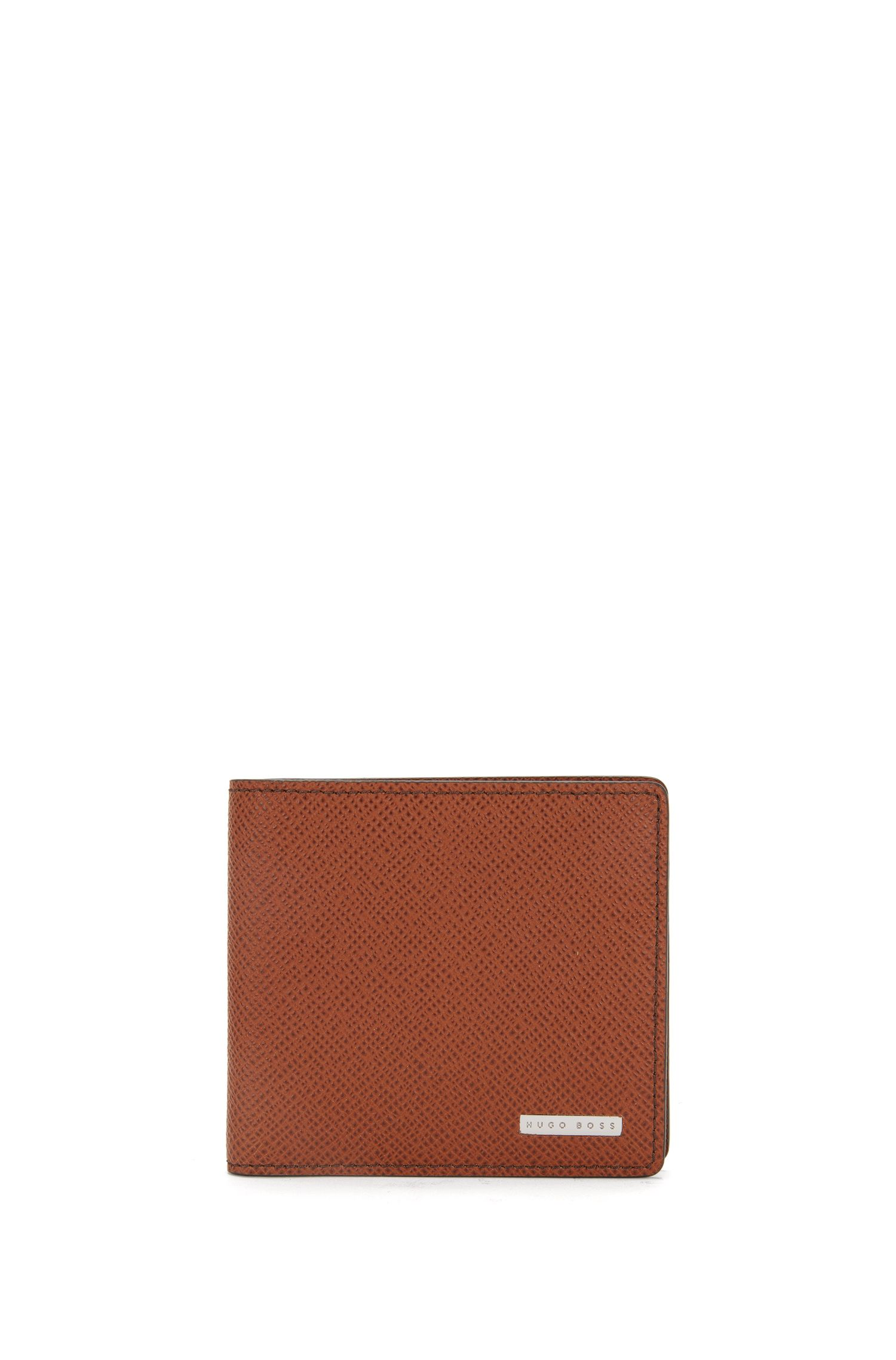 Wallet in textured leather: 'Signature_8 cc'