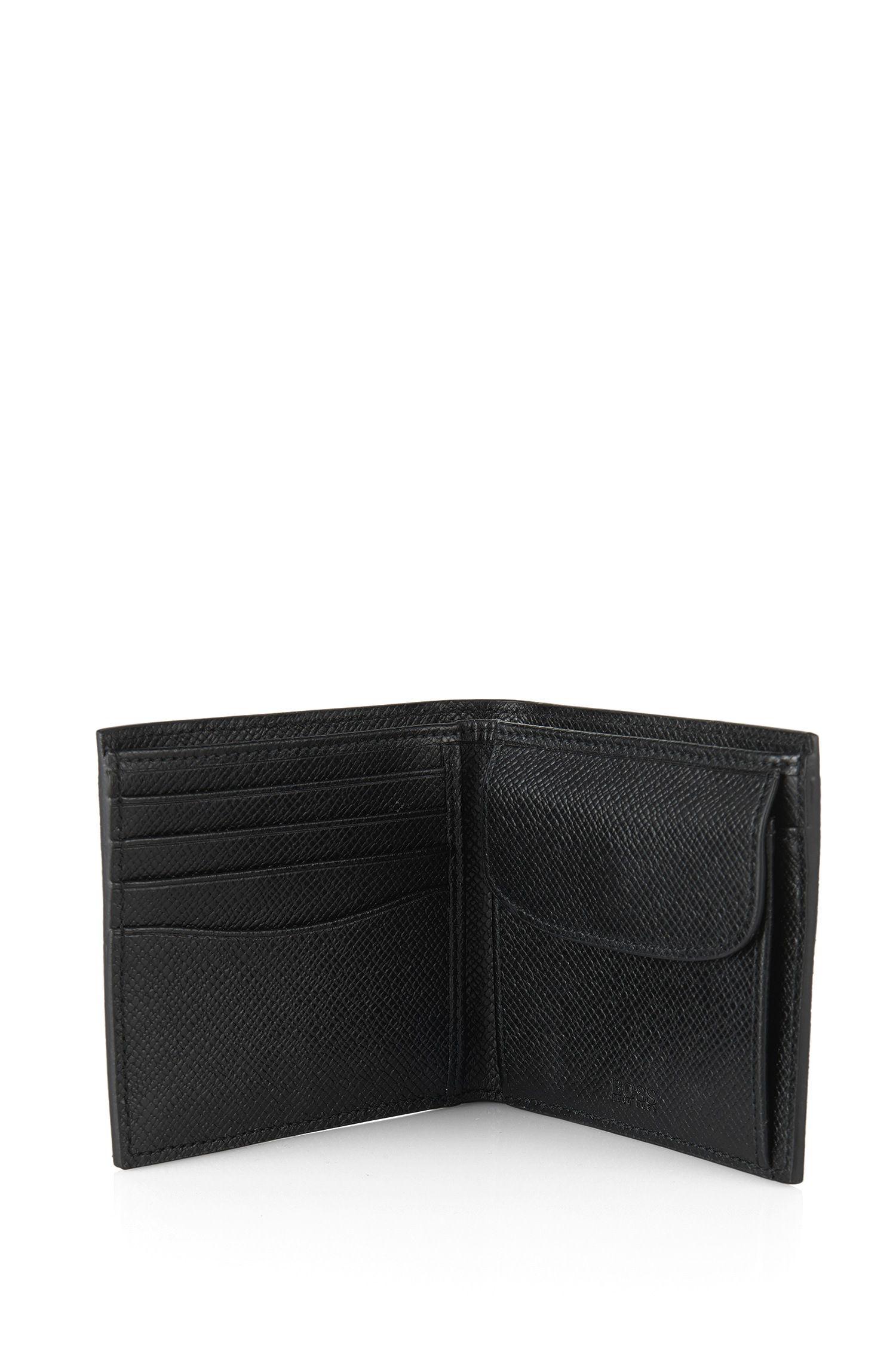 Geldbörse aus strukturiertem Leder: 'Signature_4 cc coin'