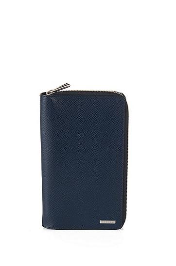 Signature系列palmellato皮革钱包 ,  401_暗蓝色