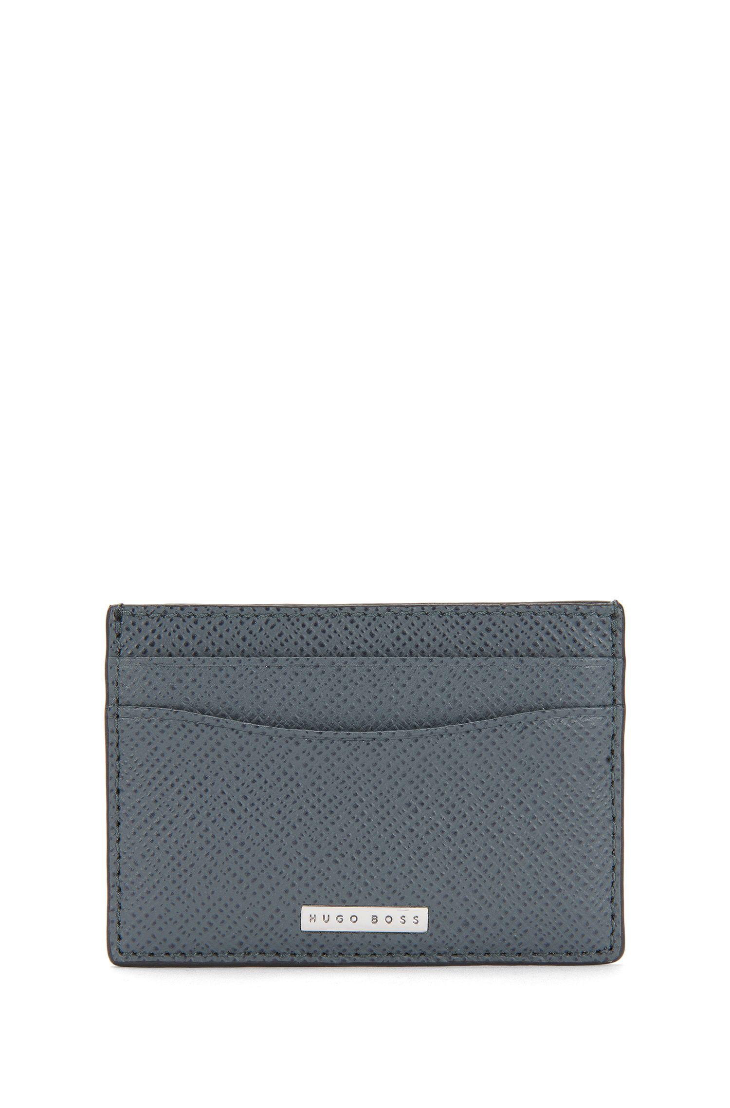 Kartenetui aus strukturiertem Leder: 'Siganture_S card'